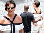 16.June.2016 - Capri - Italy\n*** EXCLUSIVE ALL ROUND PICTURES ***\n*** NOT AVAILABLE FOR ITALY, FRANCE AND SPAIN ***\nKris Jenner and boyfriend Corey Gamble spend quality time together as they enjoy the sights on the island of Capri, Italy.\nBYLINE MUST READ : XPOSUREPHOTOS.COM\n***UK CLIENTS - PICTURES CONTAINING CHILDREN PLEASE PIXELATE FACE PRIOR TO PUBLICATION ***\n**UK CLIENTS MUST CALL PRIOR TO TV OR ONLINE USAGE PLEASE TELEPHONE 44 208 344 2007**
