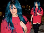 Kylie Jenner arriving at at Koi with wig  june 14, 2016 /X17online.com