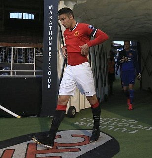 Robin van Persie opens scoring for Manchester United Under 21s as they take commanding