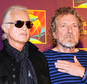 Jimmy Page, left, with Robert Plant (AP)