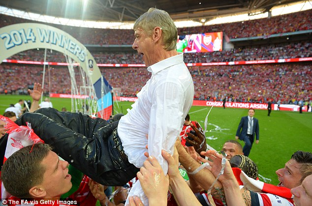 Brink: Arsene Wenger won his fifth FA Cup, but for a long time it looked as if Arsenal would lose another final