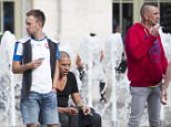 Mail online Stan Collymore stops to compose himself after being caiught in the police tear gas on the streets of Lille, June 15 2016 ahead of their Euro 2016 game against Wales tomorrow. The action comes as the Home Secretary Theresa May announced that additional British police officers are to be sent to France to help deal with football violence during Euro 2016.