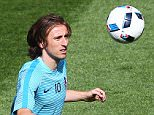 Luka Modric of Croatia warms up   during the UEFA European Championships 2016 , group D match between Czech Republic and Croatia   played at Stadium  Geoffroy Guichard , Saint-Etienne , France on June 17th  2016