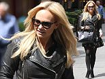 ***Not part on any subscription deal. Fee set at £150 before 22.00hrs on 16th June 2016**\nEXCLUSIVE ALLROUNDERBaby Spice Emma Bunton runs business errands in London wearing black leather biker jacket and floral dress\nFeaturing: Emma Bunton\nWhere: London, United Kingdom\nWhen: 15 Jun 2016\nCredit: WENN.com
