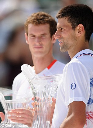 Jealous glare: Novak Djokovic once again proved too good for Andy Murray