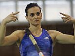 VOLGOGRAD, RUSSIA. FEBRUARY 6, 2016. Two-time Olympic gold medalist, Russian pole vaulter Yelena Isinbayeva during a warm-up for the 2016 Volgograd Region Governor's Cup track and field competition, her first tournament after a maternity leave. Dmitry Rogulin/TASS (Photo by Dmitry Rogulin\\TASS via Getty Images)