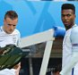 LENS, FRANCE - JUNE 16:  Jamie Vardy and Daniel Sturridge (R) of England come on as substitutes during the UEFA EURO 2016 Group B match between England v Wales at Stade Bollaert-Delelis on June 16, 2016 in Lens, France.  (Photo by Matthew Ashton - AMA/Getty Images)