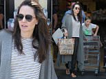 **EXCLUSIVE** Angelina Jolie took daughter Shiloh groceries shopping in West Hollywood.