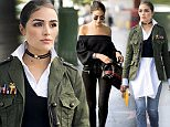 LOS ANGELES, CA - JUNE 16:  Olivia Culpo is wearing Unravel suede pants, Tibi top, Common projects sneakers, TOD'S bag, Linda Farrow sunglasses, Jennifer Fisher hoops, Shay jewelry diamond choker seen in the streets of Los Angeles on June 16, 2016 in Los Angeles, California.  (Photo by Timur Emek/Getty Images)