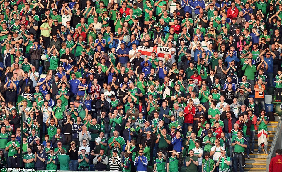 Northern Ireland fans were in fine voice as they watched the side play at Windsor Park for the final time before the tournament this summer
