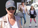 15.June.2016 - Beverly Hills ? USA\n*** STRICTLY AVAILABLE FOR UK AND GERMANY USE ONLY ***\nBeverly Hills, CA - Kyle Richards is spotted with daughter Portia having lunch with a few friends. The group grabs Il Pastaio on the outdoor porch then heads out with some take out. Portia has a pair of skates and holds onto Richards tightly as she practices down the street.\nBYLINE MUST READ : AKM-GSI-XPOSURE\n***UK CLIENTS - PICTURES CONTAINING CHILDREN PLEASE PIXELATE FACE PRIOR TO PUBLICATION ***\n*UK CLIENTS MUST CALL PRIOR TO TV OR ONLINE USAGE PLEASE TELEPHONE 0208 344 2007*\n