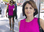 "TV Personnality Bethenny Frankel is leaving ""Sirius Radio"" building in Midtown, New York, NY on June 15, 2016.\n16 June 2016.\nPlease byline: Vantagenews.com"