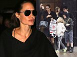 Picture Shows: Angelina Jolie, Vivienne Jolie-Pitt, Shiloh Jolie-Pitt  April 26, 2016    *Min Web / Online Fee �200 For Set*  *Min �200 per pic for mags*    Actress Angelina Jolie and her children spotted out for lunch at The Delaunay restaurant in London, England.    Angelina was seen carrying a shopping bag from Hamleys toy store as they left the restaurant.    Twins Knox and Vivienne enjoyed the sudden snowfall as they left, trying to catch it in their hands and mouths.     *Min Web / Online Fee �200 For Set *  *Min �200 per pic for mags*    Exclusive All Rounder  WORLDWIDE RIGHTS  Pictures by : FameFlynet UK � 2016  Tel : +44 (0)20 3551 5049  Email : info@fameflynet.uk.com