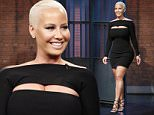 LATE NIGHT WITH SETH MEYERS -- Episode 385 -- Pictured: Model/fashion designer Amber Rose arrives on June 16, 2016 -- (Photo by: Lloyd Bishop/NBC/NBCU Photo Bank via Getty Images)