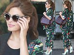 16.JUNE.2016 - West Hollywood, CA  - USA ***AVAILABLE FOR UK AND GERMANY SALE ONLY *** *PREMIUM EXCLUSIVE - MUST CALL FOR PRICING*  Eva Mendes makes her first appearance out after giving birth to her latest child Amada Lee Gosling. Eva looks great in a floral printed matching blazer and pants.¯ BYLINE MUST READ: AKM-GSI-XPOSURE ***UK CLIENTS - PICTURES CONTAINING CHILDREN PLEASE PIXELATE FACE PRIOR TO PUBLICATION *** *UK CLIENTS MUST CALL PRIOR TO TV OR ONLINE USAGE PLEASE TELEPHONE 0208 344 2007*