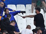 Football Soccer - Iceland v Hungary - EURO 2016 - Group F - Stade VÈlodrome, Marseille, France - 18/6/16  Fans clash with police before the game  REUTERS/Eddie Keogh  Livepic