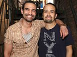 NEW YORK, NY - JUNE 16:  Javier MuÒoz and Lin-Manuel Miranda who both play the title character in the Tony Award winning musical 'Hamilton' at the Richard Rodgers Theater on June 16, 2016 in New York City.  (Photo by Walter McBride/Getty Images)