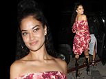 Australian Model Shanina Shaik parties at The Nice Guy Club with her friends in West Hollywood, CA.....Pictured: Shanina Shaik..Ref: SPL1304657  180616  ..Picture by: Photographer Group / Splash News....Splash News and Pictures..Los Angeles: 310-821-2666..New York: 212-619-2666..London: 870-934-2666..photodesk@splashnews.com..