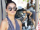 West Hollywood, CA - Shanina Shaik and boyfriend DJ Ruckus lunch at Urth Caffe together with her dog Choppa. Shanina is wearing a plunging dress paired with sandals with her hair worn in a top knot. \nAKM-GSI          June 18, 2016\nTo License These Photos, Please Contact :\nMaria Buda\n(917) 242-1505\nmbuda@akmgsi.com\nsales@akmgsi.com\nor \nMark Satter\n(317) 691-9592\nmsatter@akmgsi.com\nsales@akmgsi.com\nwww.akmgsi.com