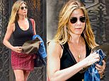 NEW YORK, NY - JUNE 17:  Actress Jennifer Aniston is seen walking in Soho on June 17, 2016 in New York City.  (Photo by Raymond Hall/GC Images)