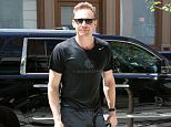 06/17/2016 Tom Hiddleston spotted in Soho New York today after stepping out of a car and heading into a hotel. Tom has recently been linked to Taylor Swift after being spotted spending a romantic moment with the pop-star in Rhode Island.  Please byline:TheImageDirect.com