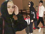EXCLUSIVE: *****PREMIUM EXCLUSIVE RATES APPLY*****  Johnny Depp's daughter, Lily-Rose seen with her rumored boyfriend, Ash Stymest.  Lily-Rose Depp & the British model were seen at LAX with a couple of bodyguards the day before Father's Day as Johnny Depp prepares to divorce Amber Heard.  Lily-Rose was seen in black spandex & a black hoodie, but eventually took the hoodie off to go through security only to reveal her very skinny frame. \n\nPictured: Lily-Rose Depp, Ash Stymest\nRef: SPL1304930  180616   EXCLUSIVE\nPicture by: Sharky/Polite Paparazzi/Splash\n\nSplash News and Pictures\nLos Angeles: 310-821-2666\nNew York: 212-619-2666\nLondon: 870-934-2666\nphotodesk@splashnews.com\n