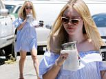 eURN: AD*210316352  Headline: Dakota Fanning Cools Down With A Cold Drink While Out In Los Angeles Caption: EXCLUSIVE TO INF. June 19, 2016: Actress Dakota Fanning cools down with a cold drink while out in Los Angeles, California. Dakota was looking casual in an off-the-shoulder mini dress and tan sandals. Mandatory Credit: Fresh/INFphoto.com Ref: infusla-283 Photographer: infusla-283 Loaded on 19/06/2016 at 23:06 Copyright:  Provider: Fresh/INFphoto.com  Properties: RGB JPEG Image (23968K 1708K 14:1) 2617w x 3126h at 300 x 300 dpi  Routing: DM News : GeneralFeed (Miscellaneous) DM Showbiz : SHOWBIZ (Miscellaneous) DM Online : Online Previews (Miscellaneous), CMS Out (Miscellaneous)  Parking: