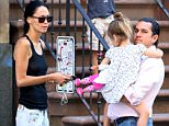 EXCLUSIVE: TV personality Julies Weinstein reunites with her husband Michael Weinstein and two kids, Jagger and Rio, in New York City, New York.  Pictured: Jules Wainstein,Rio Wainstein,Jagger Wainstein and Michael Wainstein Ref: SPL1304554  180616   EXCLUSIVE Picture by: Christopher Peterson/Splash News  Splash News and Pictures Los Angeles: 310-821-2666 New York: 212-619-2666 London: 870-934-2666 photodesk@splashnews.com