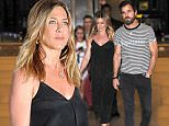Jennifer Aniston and Justin Theroux arrive to Nobu in New York City. \n\nPictured: Jennifer Aniston and Justin Theroux\nRef: SPL1305099  190616  \nPicture by: Jason Winslow / Splash News\n\nSplash News and Pictures\nLos Angeles: 310-821-2666\nNew York: 212-619-2666\nLondon: 870-934-2666\nphotodesk@splashnews.com\n