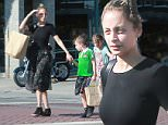 Exclusive... 52097263 Actress Nicole Richie stops at a bakery with her kids in Los Angeles, California on June 18, 2016.  Her two kids were eating while they walked around the city together. FameFlynet, Inc - Beverly Hills, CA, USA - +1 (310) 505-9876