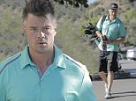 Exclusive... 52097490 Busy dad and actor Josh Duhamel is seen enjoying his Father's Day morning grabbing breakfast in Brentwood, California on June 19, 2016. He then went to the golf course with a friend who gifted him socks. FameFlynet, Inc - Beverly Hills, CA, USA - +1 (310) 505-9876