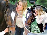 Hilary Duff whispering in the horses ear in Central Park while filming Younger New York City\n\nPictured: Hilary Duff\nRef: SPL1304698  200616  \nPicture by: Felipe Ramales / Splash News\n\nSplash News and Pictures\nLos Angeles: 310-821-2666\nNew York: 212-619-2666\nLondon: 870-934-2666\nphotodesk@splashnews.com\n