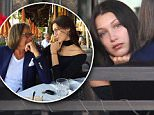 Beverly Hills, CA - Bella Hadid celebrates Father's Day early with Mohamed Hadid as the father daughter duo are seen lunch at Via Alloro the day before Father's Day. Bella hugs her dad goodbye afterwards before she leaves with a friend.\n  \nAKM-GSI       June18, 2016\nTo License These Photos, Please Contact :\nMaria Buda\n(917) 242-1505\nmbuda@akmgsi.com\nsales@akmgsi.com\nMark Satter\n(317) 691-9592\nmsatter@akmgsi.com\nsales@akmgsi.com\nwww.akmgsi.com