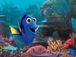 """This image released by Disney shows the character Dory, voiced by Ellen DeGeneres, in a scene from """"Finding Dory."""" The Pixar sequel far-surpassed the already Ocean-sized expectations to take in $136.2 million, according to comScore estimates Sunday, June 19, 2016.  (Pixar/Disney via AP)"""