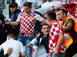 ST ETIENNE, FRANCE - JUNE 17:  Crowd trouble breaks out amongst Croatia fans during the UEFA Euro 2016 Group D match between Czech Republic and Croatia at Stade Geoffroy Guichard on June 17, 2016 in St Etienne, France.  (Photo by Kevin Barnes/CameraSport via Getty Images)