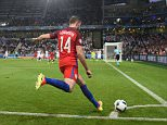 SAINT-ETIENNE, FRANCE - JUNE 20: Jordan Henderson of England takes a corner during the UEFA EURO 2016 Group B match between Slovakia and England at Stade Geoffroy-Guichard on June 20, 2016 in Saint-Etienne, France.  (Photo by Michael Regan - The FA/The FA via Getty Images)