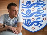 CHANTILLY, FRANCE - JUNE 18:  Jamie Vardy poses after the England press conference on June 18, 2016 in Chantilly, France.  (Photo by Michael Regan - The FA/The FA via Getty Images)