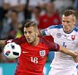 England's Jack Wilshere and Slovakia's Jan Durica (centre) battle for the ball during the UEFA Euro 2016, Group B match at the Stade Geoffroy Guichard, Saint-Etienne. PRESS ASSOCIATION Photo. Picture date: Monday June 20, 2016. See PA story SOCCER England. Photo credit should read: Owen Humphreys/PA Wire. RESTRICTIONS: Use subject to restrictions. Editorial use only. Book and magazine sales permitted providing not solely devoted to any one team/player/match. No commercial use. Call +44 (0)1158 447447 for further information.