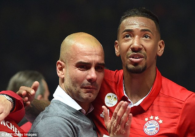 The Spaniard was in tears on Saturday evening as his Bayern Munich side won the German Cup