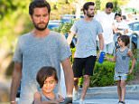 eURN: AD*210280415  Headline: EXC: Scott Disick is seen leaving an early Father's Day dinner Caption: 18.JUNE.2016 - CALABASAS - USA *** STRICTLY AVAILABLE FOR UK AND GERMANY USE ONLY *** ** EXCLUSIVE ALL ROUND PICTURES ** Scott Disick is seen leaving an early Father's Day dinner with oldest son, Mason Disick at Sugarfish near their home. The pair look casual and cool in a grey top and shorts. Earlier the family celebrated Penelope Disick's and North West's joint mermaid themed birthday party. Mason is spotted sporting a glitter tattoo on his arm from his sister's celebration.  BYLINE MUST READ : AKM-GSI-XPOSURE ***UK CLIENTS - PICTURES CONTAINING CHILDREN PLEASE PIXELATE FACE PRIOR TO PUBLICATION *** *UK CLIENTS MUST CALL PRIOR TO TV OR ONLINE USAGE PLEASE TELEPHONE 0208 344 2007*  Photographer: AKM-GSI-XPOSURE  Loaded on 19/06/2016 at 16:15 Copyright:  Provider: AKM-GSI-XPOSURE  Properties: RGB JPEG Image (27459K 2260K 12.2:1) 2500w x 3749h at 300 x 300 dpi  Routing: DM New