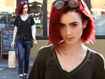 eURN: AD*210436471  Headline: *EXCLUSIVE* Lily Collins shows off her bright new hair! Caption: 20.June.2016 - West Hollywood - USA *** STRICTLY AVAILABLE FOR UK AND GERMANY USE ONLY *** ** EXCLUSIVE ALL ROUND PICTURES ** West Hollywood, CA - Lily Collins shows off her new hair color in the California sunshine. The 27-year-old actress took to Instagram a few days ago to reveal her new bright red hair. Lily is wearing skinny jeans and slouchy tee paired with ankle boots as she grabs some snacks from the local vitamin store.  BYLINE MUST READ : AKM-GSI-XPOSURE ***UK CLIENTS - PICTURES CONTAINING CHILDREN PLEASE PIXELATE FACE PRIOR TO PUBLICATION *** *UK CLIENTS MUST CALL PRIOR TO TV OR ONLINE USAGE PLEASE TELEPHONE 0208 344 2007*  Photographer: AKM-GSI-XPOSURE  Loaded on 21/06/2016 at 04:33 Copyright:  Provider: AKM-GSI-XPOSURE  Properties: RGB JPEG Image (33089K 3198K 10.3:1) 2744w x 4116h at 300 x 300 dpi  Routing: DM News : GroupFeeds (Comms), GeneralFeed (Miscellaneous) DM S