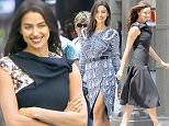 Exclusive... 52096160 Supermodel Irina Shayk is spotted doing a photo shoot on the busy streets of New York City, New York on June 17, 2016. Rumors are swirling that Irina and boyfriend Bradley Cooper could soon become engaged. ***NO USE W/O PRIOR AGREEMENT-CALL FOR PRICING*** FameFlynet, Inc - Beverly Hills, CA, USA - +1 (310) 505-9876 RESTRICTIONS APPLY: USA ONLY