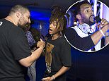 Image ©Licensed to i-Images Picture Agency. 21/06/2016. Cannes, France. \nCannes Lions Festival Day Two. \nThe Fat Jewish and Jaden Smith greet each other on board the MOL yacht.\nPicture by Ben Stevens / i-Images