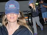 Los Angeles, CA - Renee Zellweger was not in the mood for photos after her arrival into LAX Airport. The 47-year-old actress hid her face beneath a USO Hat as she carted her luggage through the terminal.\nAKM-GSI      June 20, 2016\nTo License These Photos, Please Contact :\nMaria Buda\n(917) 242-1505\nmbuda@akmgsi.com\nsales@akmgsi.com\nor\nMark Satter\n(317) 691-9592\nmsatter@akmgsi.com\nsales@akmgsi.com\nwww.akmgsi.com