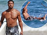 Exclusive... 52097123 'Creed' star Michael B. Jordan shows off his fit physique while paddle-boarding with friends in Maui, Hawaii on June 18, 2016. At one point, Michael lost his balance and fell off the paddle-board!  ***NO USE W/O PRIOR AGREEMENT-CALL FOR PRICING***\n 'Creed' star Michael B. Jordan shows off his fit physique while paddle-boarding with friends in Maui, Hawaii on June 18, 2016. At one point, Michael lost his balance and fell off the paddle-board!  ***NO USE W/O PRIOR AGREEMENT-CALL FOR PRICING*** FameFlynet, Inc - Beverly Hills, CA, USA - +1 (310) 505-9876