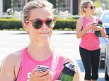 Brentwood, CA - Reese Witherspoon ends a sweaty cardio workout session in Brentwood. The actress smiled for the camera's as she returned to her car in her sweaty workout gear and a pink tank top which read 'Soul Searcher'.\nAKM-GSI   June  21, 2016\nTo License These Photos, Please Contact :\nMaria Buda\n(917) 242-1505\nmbuda@akmgsi.com\nsales@akmgsi.com\nor \nMark Satter\n(317) 691-9592\nmsatter@akmgsi.com\nsales@akmgsi.com\nwww.akmgsi.com\n