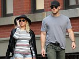 153877, Hilary Duff and boyfriend/personal trainer Jason Walsh spotted together on a late afternoon stroll around Manhattan's Soho Neighborhood. New York, New York - June 19, 2016. Photograph: © LGjr-RG, PacificCoastNews. Los Angeles Office: +1 310.822.0419 UK Office: +44 (0) 20 7421 6000 sales@pacificcoastnews.com FEE MUST BE AGREED PRIOR TO USAGE