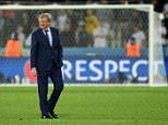 England's coach Roy Hodgson walks on the pitch following his team's 0-0 draw during the Euro 2016 group B football match between Slovakia and England at the Geoffroy-Guichard stadium in Saint-Etienne on June 20, 2016. / AFP PHOTO / PAUL ELLISPAUL ELLIS/AFP/Getty Images