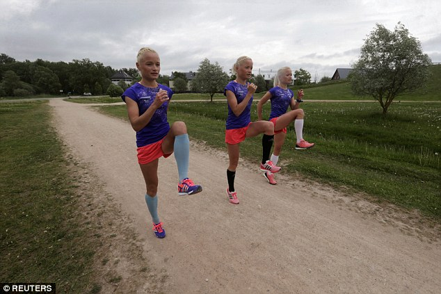 Jam-packed schedule: The sisters will all be training in northern Italy from June until they head to Rio for the games which run from August 5 to 21