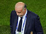 BORDEAUX, FRANCE - JUNE 21:  Vicente del Bosque head coach of Spain looks on during the UEFA EURO 2016 Group D match between Croatia and Spain at Stade Matmut Atlantique on June 21, 2016 in Bordeaux, France.  (Photo by Dennis Grombkowski/Getty Images)